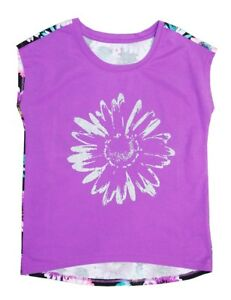 Canyon-River-Blue-Purple-Sleeveless-Floral-Graphic-Top-Shirt-Big-Girls-M-10-12
