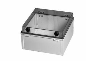 4075.1230 Kunststoffgehäuse mit Plexiglas-Deckel 300x200x180mm LxBxH Nr