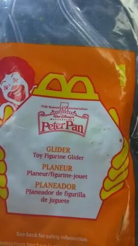 1997 MCDONALDS HAPPY MEAL PETER PAN GLIDER TOY NEW SEALED