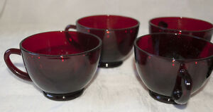 Royal-Ruby-Cups-Set-of-5-Vintage-Red-Glass-Cups-by-Anchor-Hocking-1950s-Retro