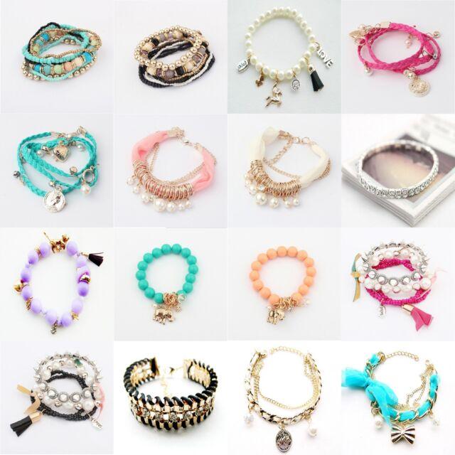 New DIY Jewelry Wholesale Fashion Style Lots Cute Lady Bracelet Bangle U pick
