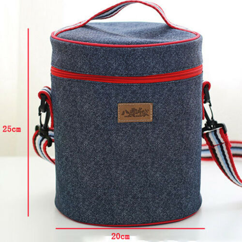 Insulated Thermal Food Drink Cool Bags Unisex Kid Picnic Portable Tote Lunch Box