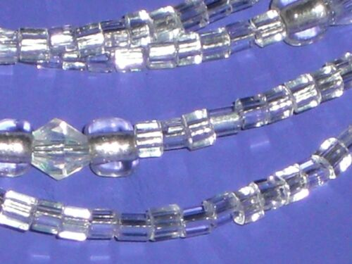 """Eyeglass Chain~White on White~Neck Cord~NEW~Crystal Accents~28/"""" Buy 3 SHIP FREE"""