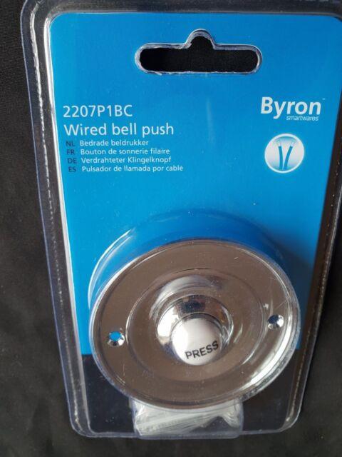 Byron Byr2207p1bc Round Wired Bell Push Flush Fit Chrome | eBay