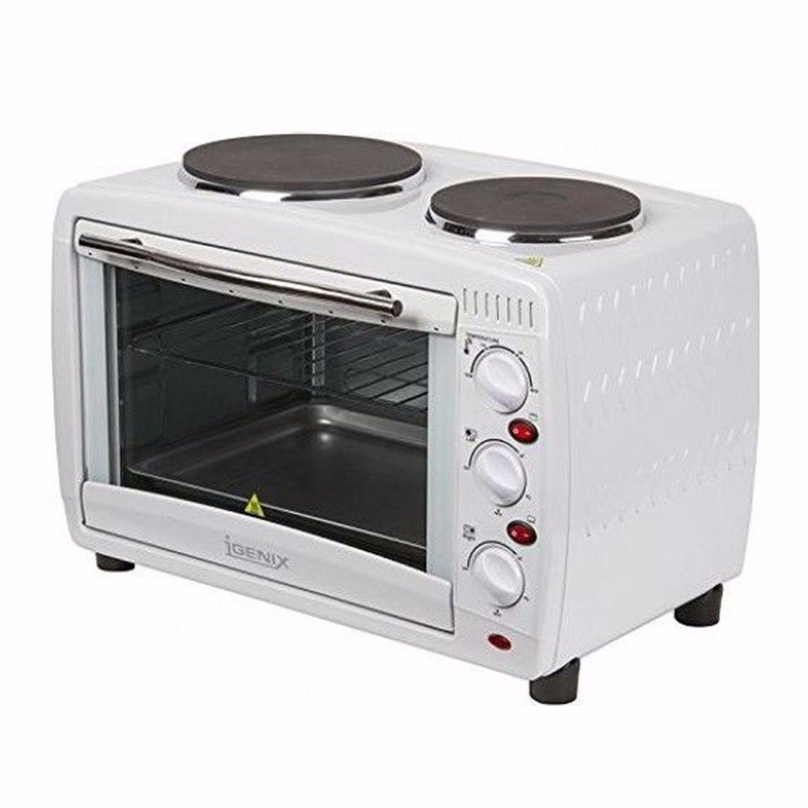 Igenix électrique IG7126 Mini four avec plaque de cuisson et grill fonction 26 L Blanc SIL000003