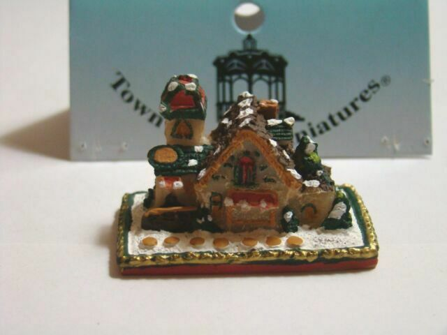 Dollhouse Brown Wrapping Paper and Dispenser 1:12 Doll House Miniatures