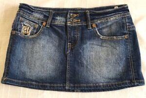 9538a68f0108 BSK Bershka Womens Blue Denim Skirt - Size 12- Length 26cms EUC ...