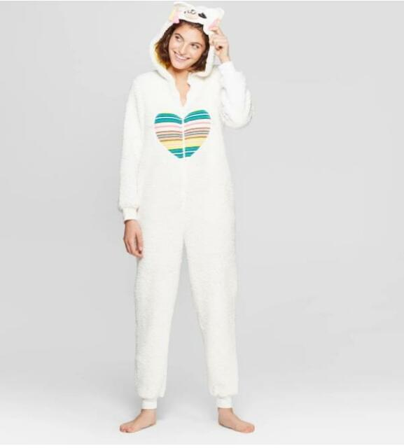 P.J.s All in one hooded jumpsuit//pyjamas 5 Styles//Colours Sizes S,M,L /& XL NEW