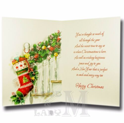 Handmade Personnalisé Carte de Noël Spécial Ami-BF-Tout nom