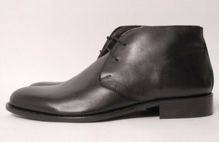 Acc Hand Made, Italian Boots Plain Black 604 Restpaare