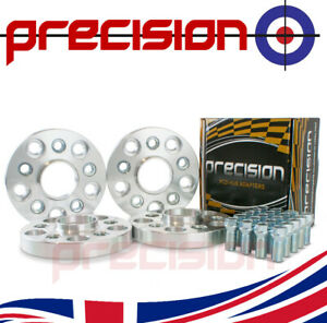 2 Pairs of 20mm Hubcentric PCD Adapters 5x112 to 5x100 for Audi A4 (B7)