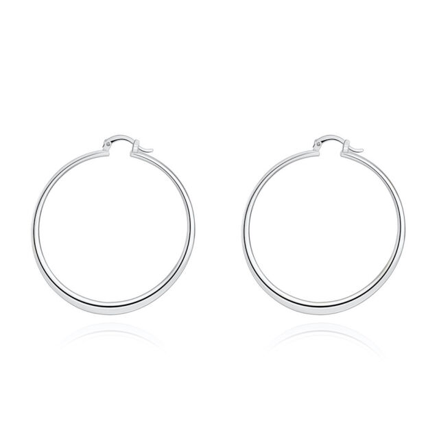 Argento Vivo 18k Gold Plated Sterling Silver Endless Hoop Earrings