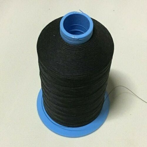 Black 16 oz #69 T70 Bonded Nylon Marine Sewing Thread Guardian Microban