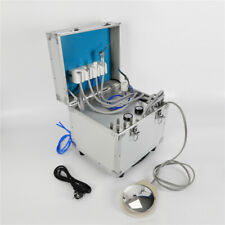 Portable Mobile Dental Rolling Case Unit All Set Built In Oilless Air Compresor