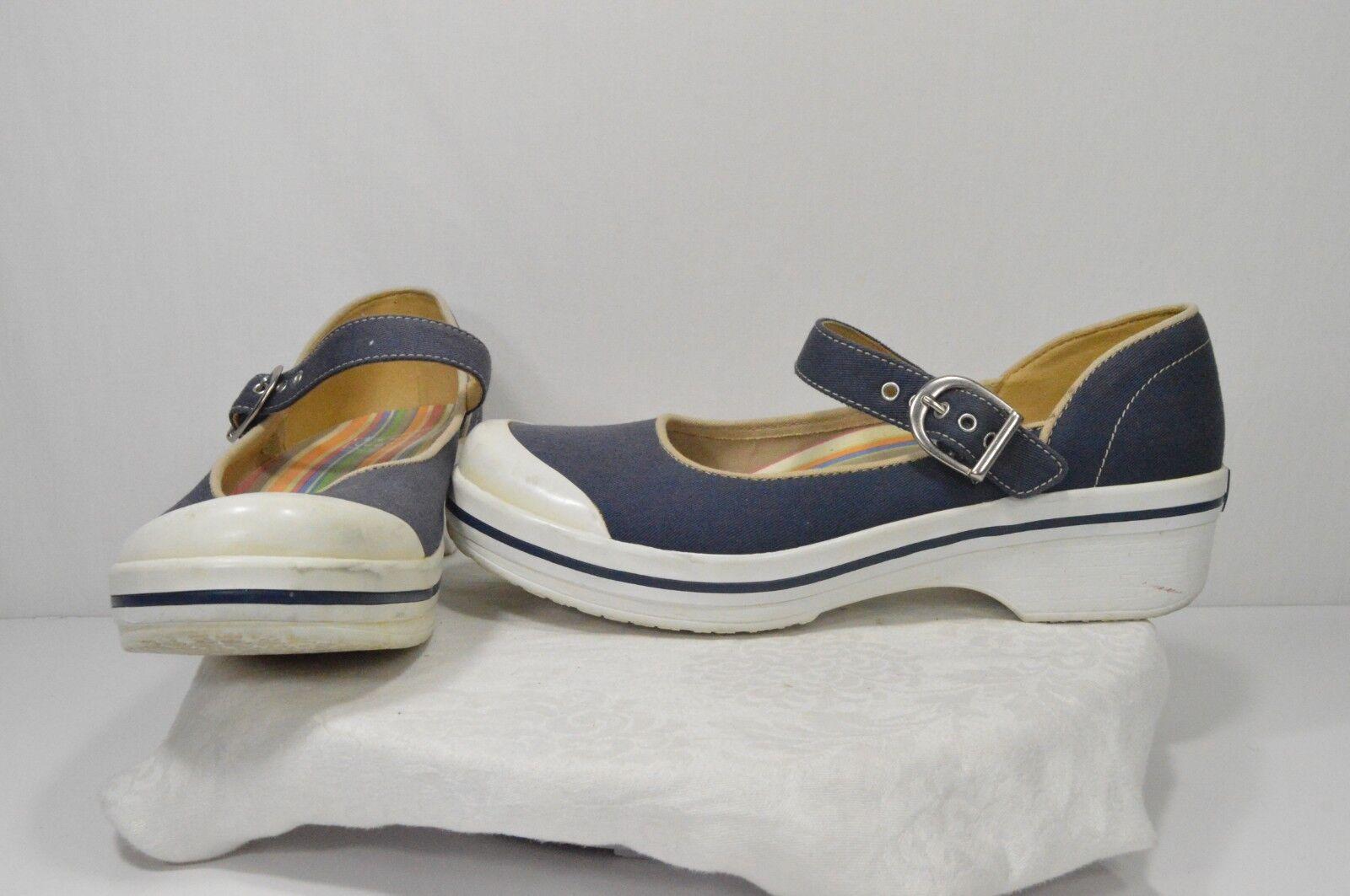Dansko Summer Blau Canvas Strappy Casual Comfort Wedge Fashion Summer Dansko Heels Größe 8 fa1048