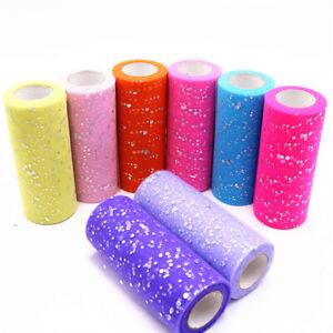 10-Yards-Glitter-Sequin-Tulle-Roll-Spool-Tutu-Sequin-Birthday-Wedding-Decor