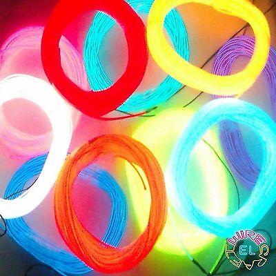 15 Metri Di Filo El + Potenti Driver = £ 45 * 2.3mm Neon Tron Wire *-mostra Il Titolo Originale