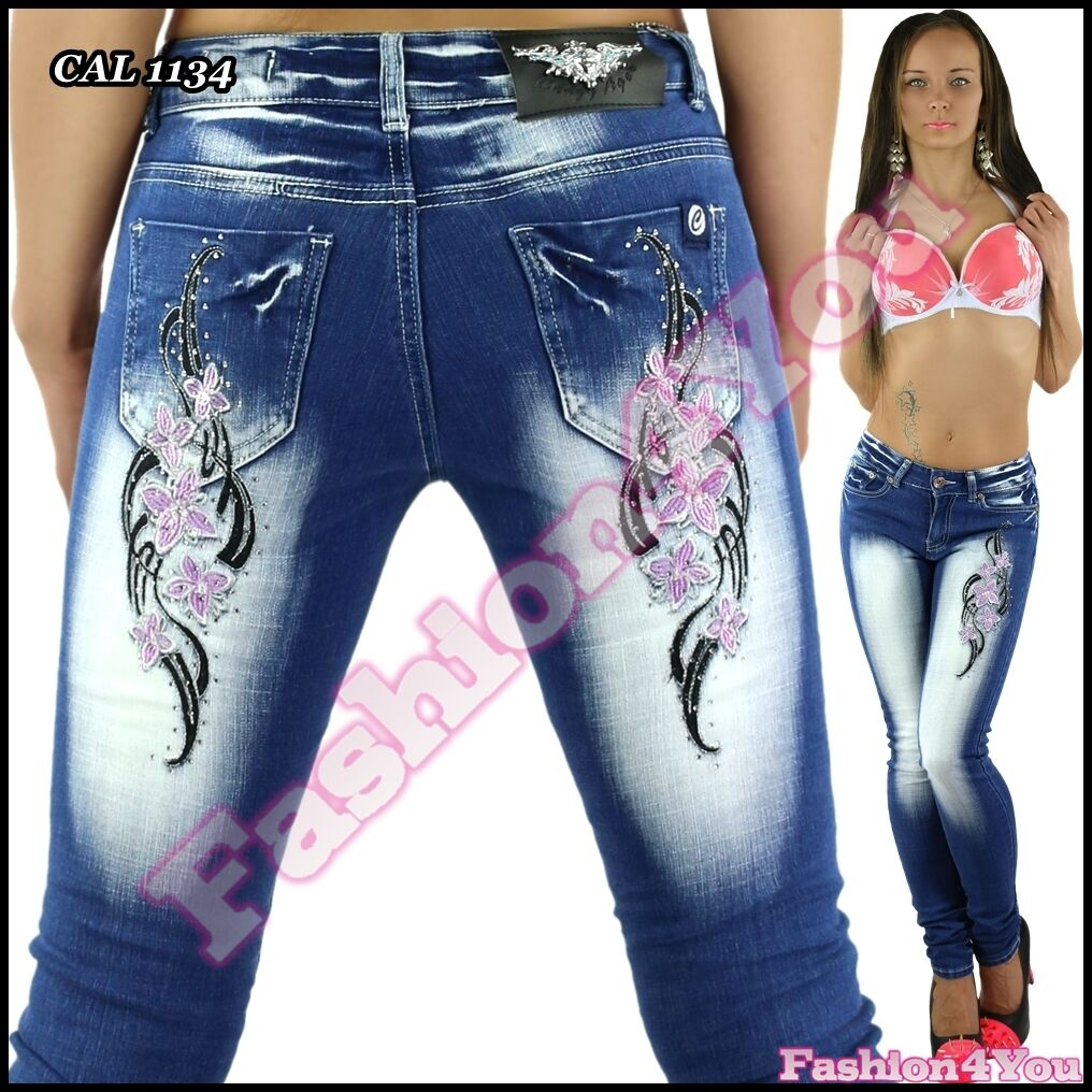 Sexy Ladies Skinny Jeans Tattoo Womens Trousers Crazy Age Size 8,10,12,14,16,18