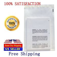 Self Seal Suffocation Warning Clear Poly Bags 100 pc combo 25 ea 4 sizes 1.5 mil