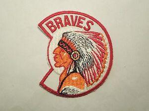 Vintage Atlanta Braves Native American Mascot Sew On Patch