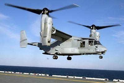 Bilder & Fotos Dedicated V-22 Osprey Hubschrauber Auf Lhd 1 Uss Wespe 12x18 Silber Halogen Fotodruck Drip-Dry Transport