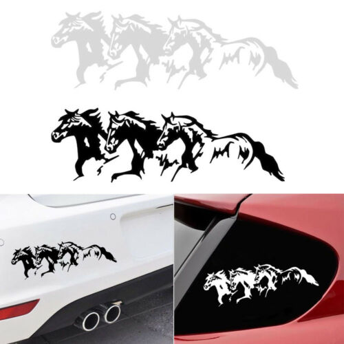 Running Horses Car Vehicle Self-Adhesive Sticker Waterproof Vinyl Decal Clever
