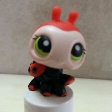 Littlest Pet Shop #221 Red Ladybug Black spots w/Green eyes USA seller 9 pics
