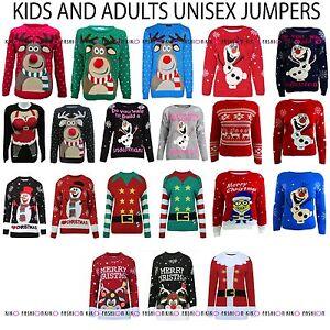 WOMENS-MENS-KIDS-NOVELTY-OLAF-FROZEN-CHRISTMAS-JUMPER-SWEATER-UNISEX