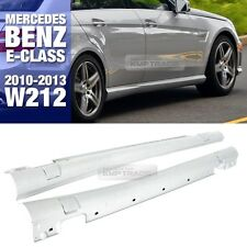 E63 AMG Style Side Skirts Body Kit Trim For Mercedes Benz 10-13 E Class W212 4dr