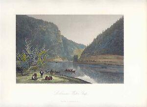 United-States-Delaware-Water-Gap-Drawing-W-G-Perkins-Engraving-R