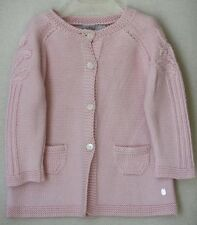 DIOR BABY PINK CASHMERE BLEND JACKET AND HAT 18 MONTHS