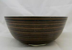 Vintage 1964 Pyrex TERRA 404 4-Quart Mixing Bowl Black & Tan or Brown Matte