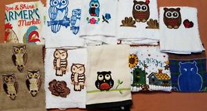 Animals Birds #T1210 1 New Kitchen Crochet Top Towel #T1201