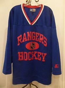 349a48e1e VINTAGE NEW YORK RANGERS NHL HOCKEY BLUE STARTER EASTERN CONFERENCE ...