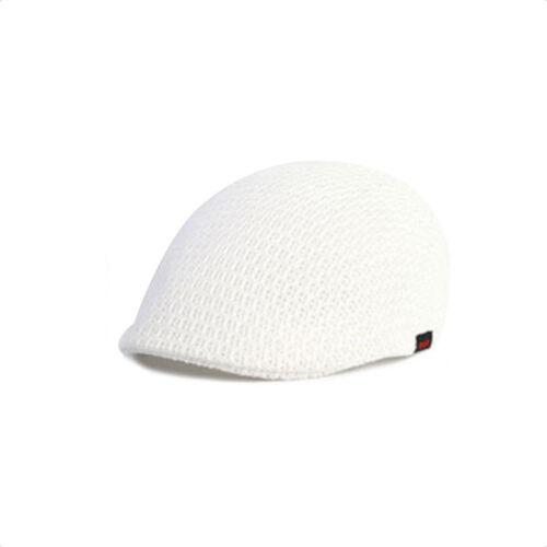 XL~2XL 61~63Cm Unisex Mens Mesh Beret Flat Cap Newsboy Cabbie Gatsby Driver Hats