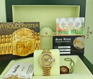 ROLEX-18kt-Gold-President-Datejust-26-Champagne-Diamond-Bezel-69138-SANT-BLANC