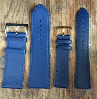 Genuine  Gent's Blue Leather Watch Strap 24mm