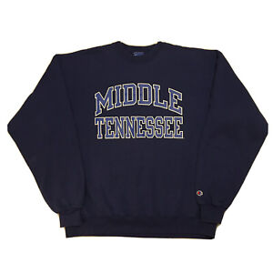 Vintage-90s-Champion-Sweatshirt-Mens-XL-Middle-Tennessee-University-College-Blue