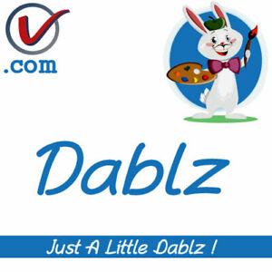 Dablz-com-Hobby-Artist-Theme-Brandable-LLLLL-COM-Domain-Name-5-Letter-5L