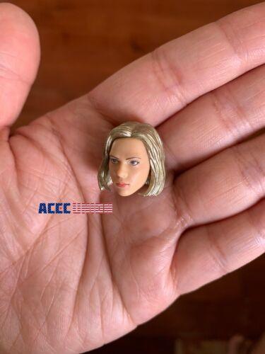 """1//12 Scarlett Johansson Head Sculpt Hands Set For 6/"""" TBLeague T01 Female Doll"""