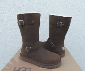 00afaaa8daf Details about UGG KENSINGTON LEATHER/ SHEEPSKIN BUCKLE BOOTS, YOUTH 5, FITS  WOMEN'S 7/ 38 ~NEW