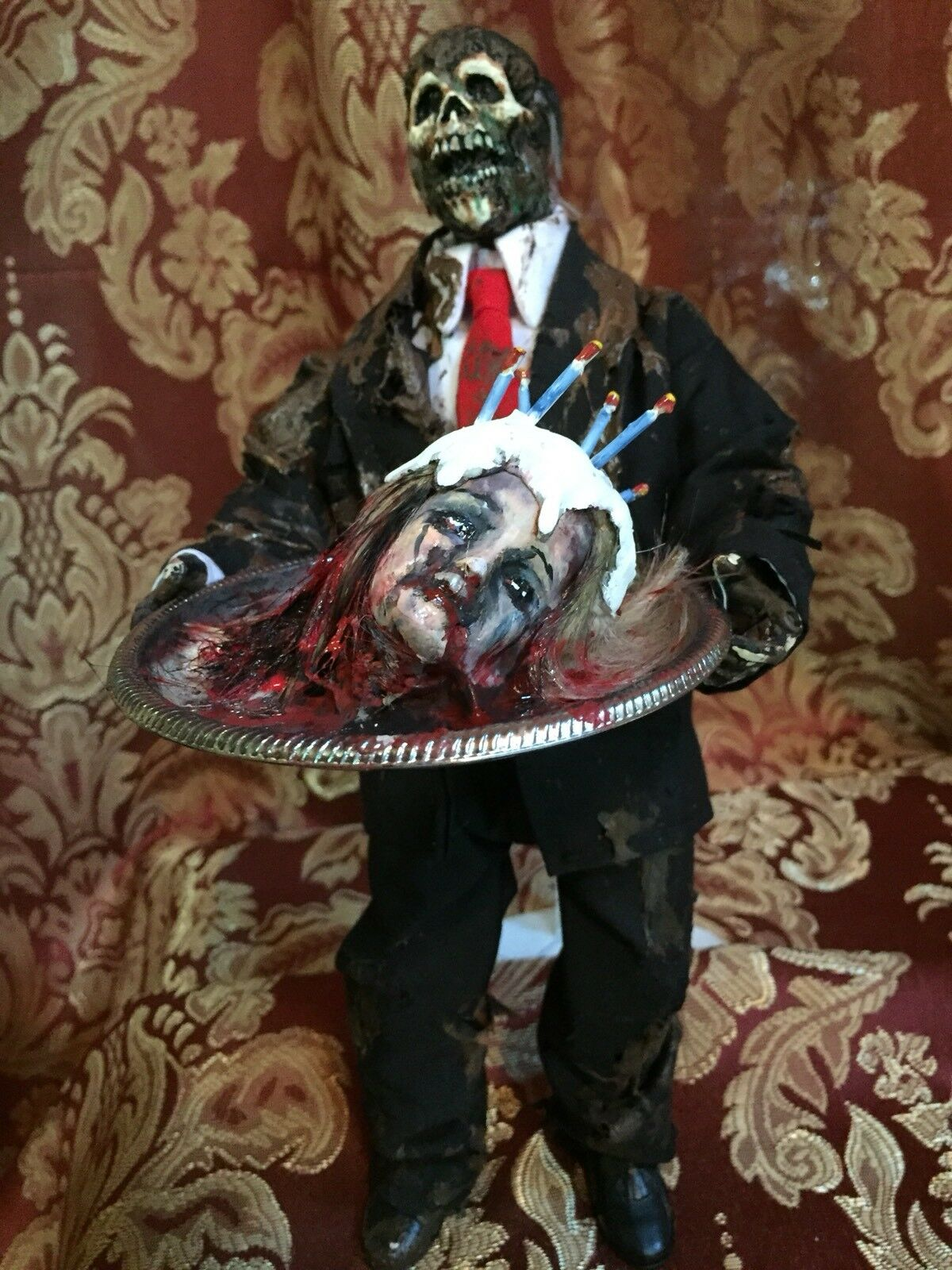 "FATHERS DAY"" Horror Custom 12 inch 1/6 scale Figure  by Screwy Luie. D"