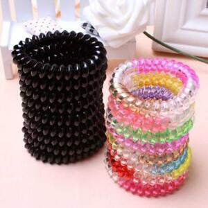 Image Is Loading 10 Pcs Elastic Rubber Hair Ties Spiral