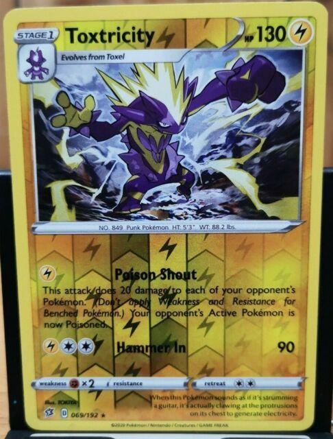 Pokemon Toxtricity - Rebel Clash 069/192 Rev. Holo Rare *
