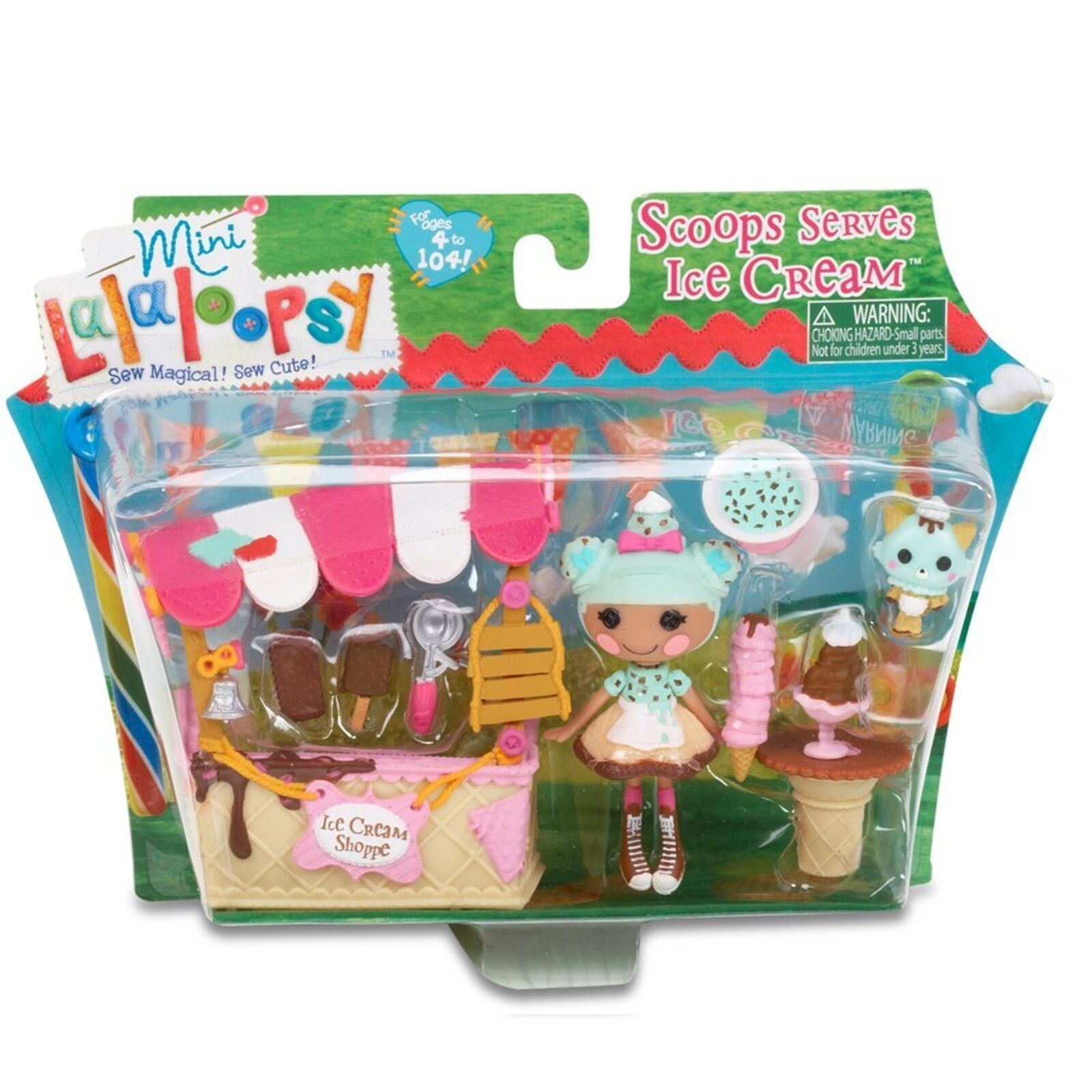 LALALOOPSY MINI SCOOPS SERVES ICE CREAM PLAYSET. BRAND NEW