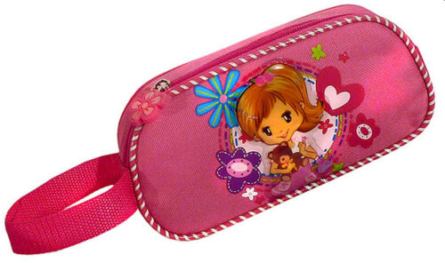 Schlamper Stifterolle Allzweck-Mäppchen Faulenzer  Mädchen mit Bär rosa Teddy