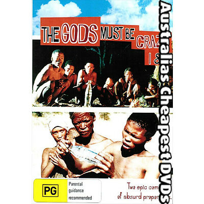 The Gods Must Be Crazy 1&2  DVD NEW, FREE POSTAGE WITHIN AUSTRALIA REGION  ALL