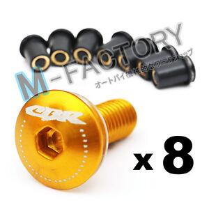Gold-CBR-Logo-Windscreen-Fairing-bolts-for-Honda-CBR900RR-CBR954-CBR929-RR