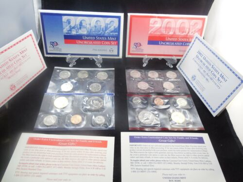 2002 United States P-D Mint Uncirculated Coin Set 20 Coins