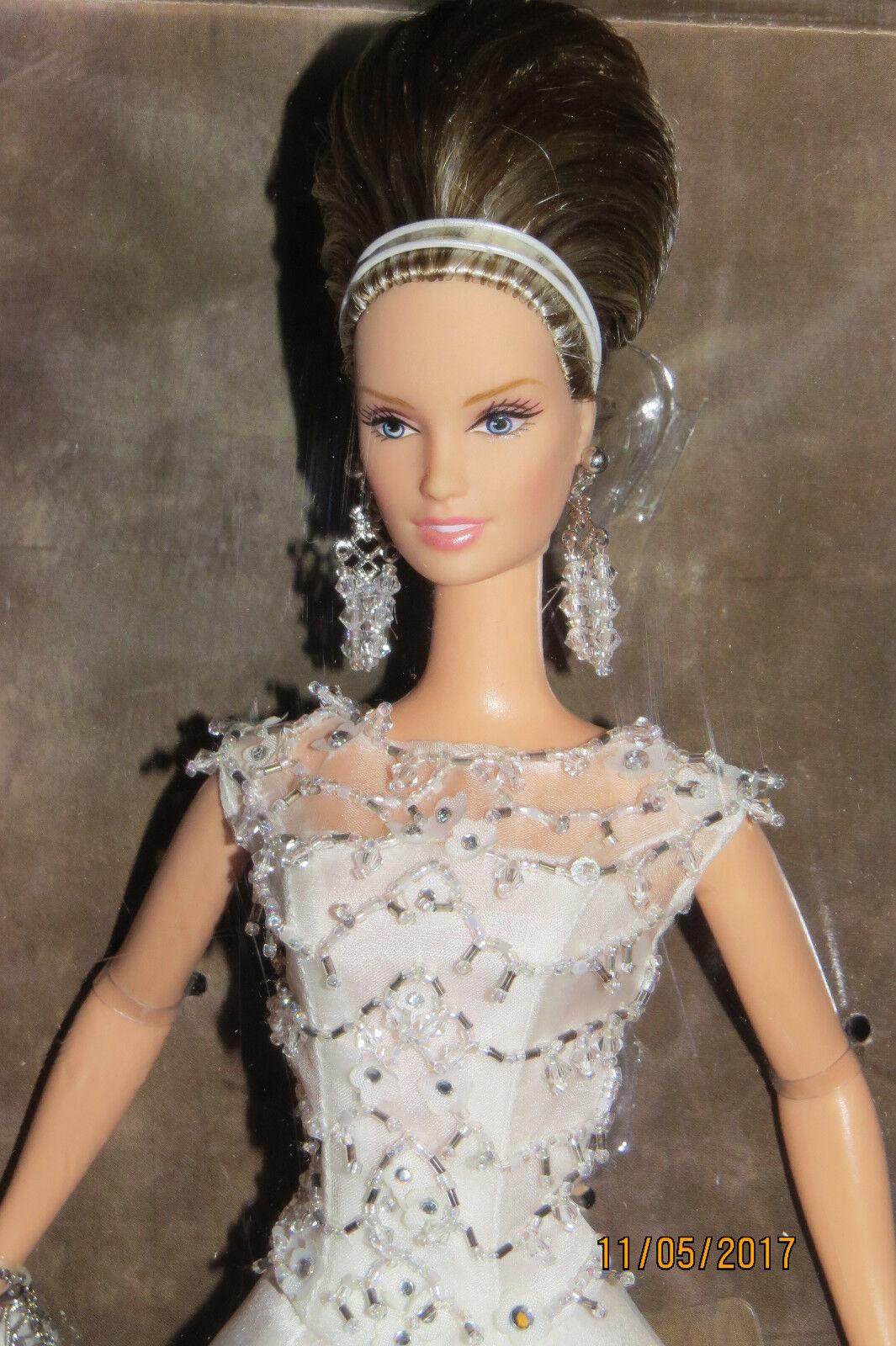 NRFB BARBIE BADGLEY & MISCHKA BRIDE Mariée collection collector B8946 oro label